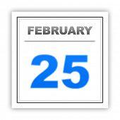 stock photo of february  - February 25 - JPG