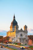 image of mary  - Basilica of Saint Mary in Minneapolis MN in the morning - JPG