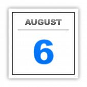 picture of august calendar  - August 6 - JPG