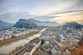 picture of mozart  - Panoramic view of Salzburg - JPG