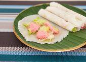 picture of candy cotton  - Thai cotton candy burrito pancake Name thai  - JPG