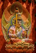 stock photo of gold tooth  - The Lord Buddha in Chinese Buddha Tooth Relic Temple in Chinatown of Singapore - JPG