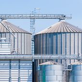 picture of silos  - Storage facility cereals and production of biogas - JPG