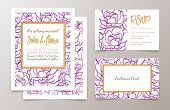 foto of hen party  - A set of office supplies for weddings and bachelorette party invitation - JPG