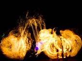 pic of torches  - Gasoline Dance Human Torch  - JPG