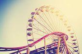 image of amusement  - Retro vintage instagram stylized picture of an amusement park - JPG