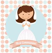 foto of communion  - first communion design - JPG