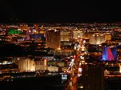 pic of las vegas casino  - Lights of Las Vegas as seen from the Stratosphere Tower - JPG