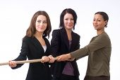 Businesswomen Pulling Together