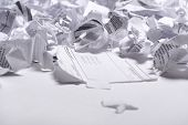 pic of recycled paper  - Paper garbage - JPG