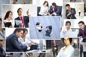 foto of business-partner  - Business collage made of many business pictures - JPG