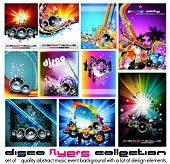 pic of disc jockey  - 10 Abstract Music Background for Discoteque Flyer with a lot of desgin elementes  - JPG