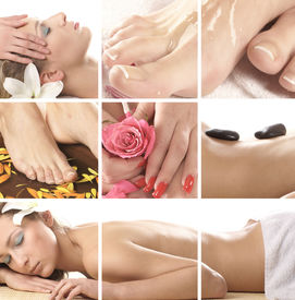 stock photo of spa massage  - Spa composition - JPG