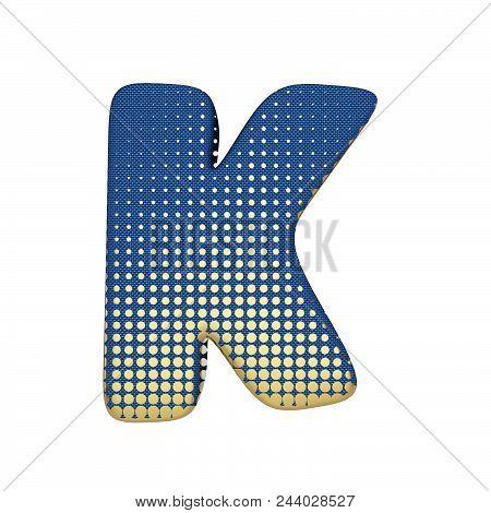 Alphabet Letter K Uppercase Gold