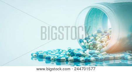 Blue And White Capsules Pill