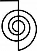 stock photo of cho-cho  - Artwork of the power symbol cho ku rei for the Japanese healing system reiki - JPG