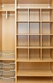 stock photo of assemblage  - New wardrobe in the course of assemblage - JPG