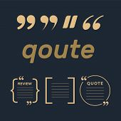 Vector Set Of Creative Quote Text Template. Quote Blank Template. Empty Quote Bubble. poster