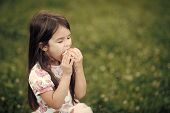 Child Eats An Apple With Pleasure. Diet Food For Child, Healthy Nutrition. Diet, Dieting Concept. poster