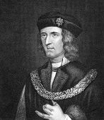 Richard III of England (1452-1485). Engraved by Bocquet and published in the Catalogue of the Royal