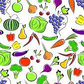 Постер, плакат: Овощи и фрукты