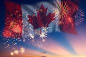 Holiday Fireworks On Day Of Canada poster