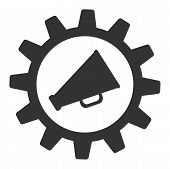 Marketing Automation Vector Icon. Flat Marketing Automation Symbol Is Isolated On A White Background poster