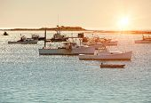 Lobster fishing boats in Maine, New England, USA poster