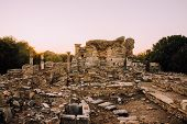 Antique City.church Of The Virgin In Ephesus.ruins Of An Ancient City In Turkey. Archaeological Site poster