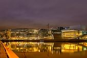 View Of Oslo The Capital Of Norway At Night, Europe, Scandinavia poster