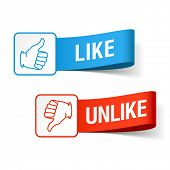 Like and unlike symbols. Vector.
