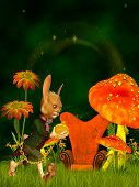pic of rabbit hole  - Illustration of the March Hare in the Wonderland - JPG