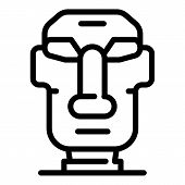 Easter Island Moai Statue Icon. Outline Easter Island Moai Statue Vector Icon For Web Design Isolate poster