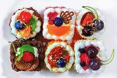 Delicious Cakes With Nuts And Fruit Delicious Cakes poster