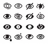 Eyes Icon. Optical Care Symbols Eyesight Vision Cataract Blinds Good Looking Medicine Pictures Searc poster