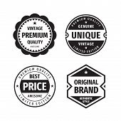 Business Badges Vector Set In Retro Vintage Design Style. Abstract Logo. Premium Quality. Best Price poster