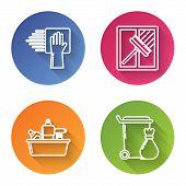 Set Line Cleaning Service , Squeegee, Scraper, Wiper, Plastic Bottles For Liquid Dishwashing Liquid  poster