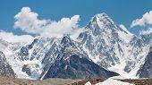 stock photo of skardu  - Gasherbrum IV is one of the most esthetic peaks in the Karakorum Mountains in Northern Paksitan - JPG