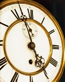 image of roman numerals  - Antique Clock  - JPG