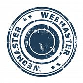 Webmaster SEO concept stamp isolated on a white background.