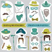 foto of mustache  - Photo Booth Party set  - JPG