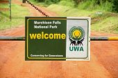 Murchison Falls National Park Entrance Gate Closeup