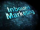 Business concept: Inbound Marketing on digital background