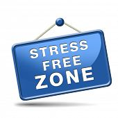 stock photo of stress  - stress free zone totally relaxed without any work pressure succeed in stress test trough stress management reduce and control external pressure - JPG