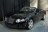 LOS ANGELES, CA - NOVEMBER 20: A Bentley Continental GTC QNX concept car on exhibit at the Los Angel