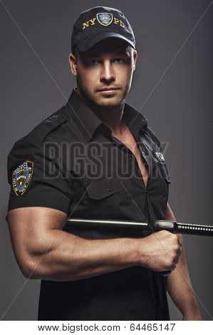 Good looking police officers