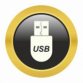stock photo of flashing  - USB flash drive icon as a symbol of USB flash drive - JPG