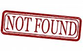 image of not found  - Stamp with text not found inside vector illustration - JPG