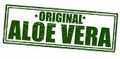 image of peculiar  - Stamp with text aloe vera inside vector illustration - JPG