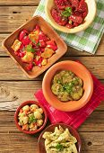foto of pickled vegetables  - selection of tapas consists of pickled vegetable - JPG